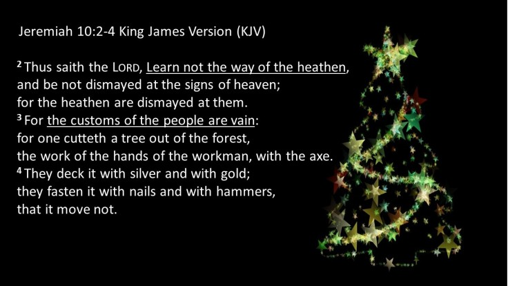 Christmas Tree violation of scripture